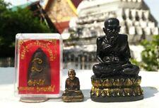 Thailand Black Lp Tuad Amulet Thai Wat Buddha Talisman Chang Hai Rare Pendant lp