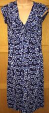 BNWT WHITE STUFF 8 ladies blue spot go crazy short sleeve knot front midi dress