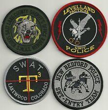 SET Nr. 4:  4 Stück  SWAT SEK USA Police Patches Polizei Stoffabzeichen KONVOLUT