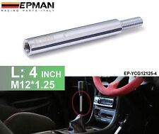 """Polished Shift Knob Extension Extender For Manual Gear Shifter Lever 4"""" M12X1.25"""