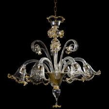 Orazio, lampadario Artistico In Vetro Di Murano Lavorato A Mano Cristallo Oro