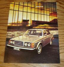 Original 1977 Volvo Full Line Sales Brochure 77 264GL 265GL 242 244 245