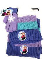 Disney Frozen 2 Hat Gloves Scarf Set Girls NWT
