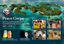 PALAU -  PEACE CORPS 50TH ANNIVERSARY SHEETLET OF 4 STAMPS MNH