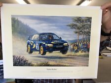 Limited Edition Print Of Colin McRae 1997 R.A.C. Rally 181/375 By Tony Smith