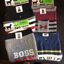 4 Dog Sweaters Size Medium Brand New Novelty Striped Boys Theme Cute