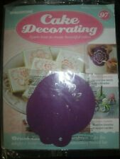 Deagostini Cake Decorating Magazine ISSUE 97 - WITH BRUSH EMBROIDERY STENCIL SET