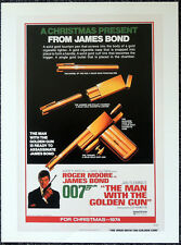 THE MAN WITH THE GOLDEN GUN 1974 FILM MOVIE POSTER PAGE . JAMES BOND 007 . V20
