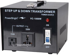 PowerBright 1000 Watt Voltage Transformer/Converter 110-220 Volt Step UP / DOWN