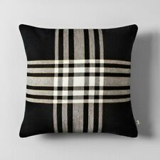 """ONE Hearth & Hand with Magnolia  Black-White Plaid pillow-18 X 18"""" Joanna Gaines"""