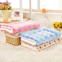 Dog Cat Rest Bed Blanket Pet Cushion Soft Winter Warm Sleep Mat Kennel Cage Pad