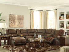 NEW Living Room 7pcs Sectional - BROWN Microfiber Reclining Sofa Chaise Set IF0B