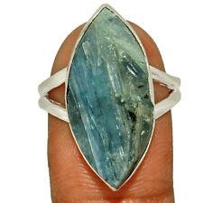Paraiba Blue Kyanite Rough - Brazil 925 Sterling Silver Ring s.9 AR206298 XGB