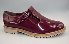 """""""Griffin Monty"""" Clark's Mujeres/Damas Borgoña patente zapatos talla 5 D."""