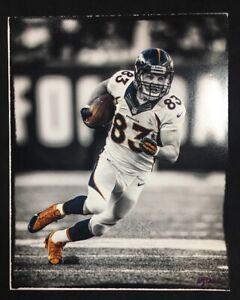 Wes Welker 11x14 Spotlight Photo Broncos #83 Signed Photographer WILLIAM HAUSER