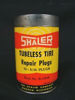 1944 SHALER Bicycle Auto Tubeless Tire Repair Kit Mushroom Plugs Complete NOS
