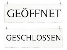 Retro Schild Ladenschild Türschild TIMELESS GEÖFFNET GESCHLOSSEN Holzschild Wend