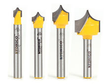 Point Cutting Round Over Groove Router Bit 4 Bit Set 14 Shank Yonico 13470q