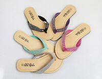 Girl Infant and Kid Rhinestone Strap Classic Flip Flops Sandals 5-4