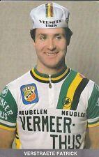 CYCLISME carte cycliste VERSTRAETE PATRICK équipe VERMEER THIJS