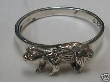 PIG  Ring Sterling Silver    (1081)