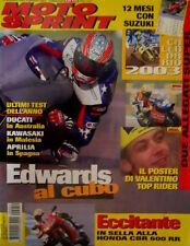 Motosprint 52 2002 Poster Rossi. Ultimi test dell'anno: Ducati in Australia