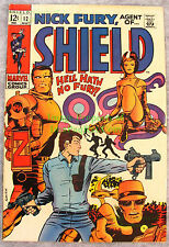Nick Fury Agent of SHIELD #12, 1969 Barry Smith Cover, Very Nice Copy!