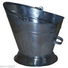 Coal Bucket Waterloo Galvanised Coal Hod Log Holder Fireside Bucket Coal Carrier