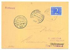 NEDERLAND 1947-3-24  IJSVLUCHT CARD  NAAR  AMELAND + RETOUR  #220
