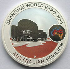 Australia 2010 Shanghai Expo Dollar 1oz Colour Silver Coin,BU