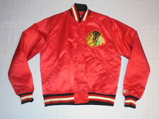 NHL Hockey Chicago Blackhawks vintage deadstock Starter Satin Jacket Medium nice