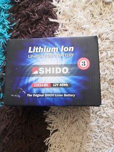 Shido Battery LTX14-BS LiFePO4 Lithium Iron (GTX14-BS) - LTX14-BS LION -S-