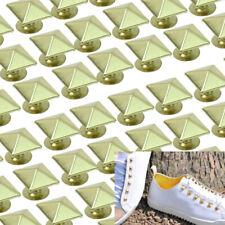 50 Pcs Square Pyramid Rivet Studs Punk Rock DIY For Bags Shoes Clothes Dec SIP