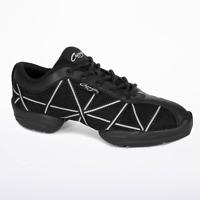 Black and Silver capezio web split sole dance sneakers - all sizes