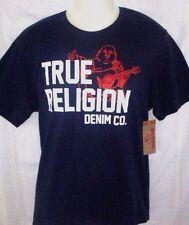 MENS TRUE RELIGION BUDDHA NAVY BLUE T-SHIRT SIZE XL