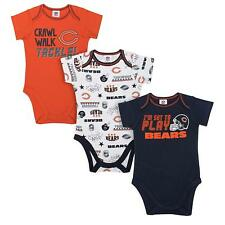 Chicago Bears 3 Piece  Baby Bodysuit 6 to 12 Months