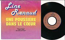 """LINE RENAUD 45 TOURS 7"""" FRANCE UNE POUSSIERE DANS LE COEUR"""