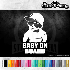Aufkleber Baby on Board Kind an Bord Hangover Sticker Auto Tuning Tour Kids