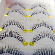 Luxurious Short Cross Natural False Handmade Soft Fake Eyelashes Eye Lashes D003
