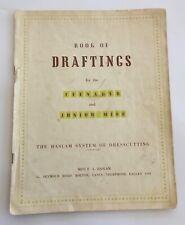 Original Vintage Dress Sewing Patterns 1940/50's Teenagers HASLAM Draftings