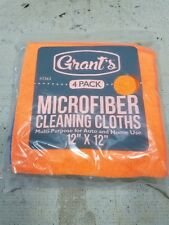"""Grant's 4-Pack 12"""" Microfiber Cleaning Cloths Auto & Home"""
