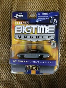 Jada Dub City Bigtime Muscle 1969 69 Chevy Chevelle SS Car Primer Gray 1/64