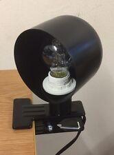 Lámpara DE MORDAZA Negro Clip en la lectura de Escritorio Mesa cabecero Craft garaje Spot Luz