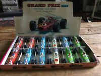 VINTAGE TELSADA TOYS TRADE BOX GRAND PRIX CIRCUIT RACERS WITH 12 RACING CARS