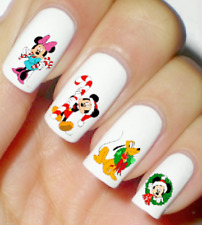 Disney Christmas Mickey Xmas Nail Art Water Decal Stickers Manicure Salon Polish
