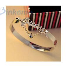 Fashion Silver Bracelet Women Girl Letter Bracelet Custom Bracelet Jewelry