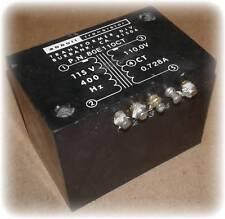 Transformer, Power, Out 110V 0.728A, Secondary Dcr Ohms: 2.03, 400Hz,Mil-Prf-27F