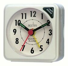 Bentima By Acctim Ingot Mini Alarm Clock Pocket Size White Battery Operated