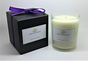 Moroccan Rose Natural Scented 20cl Candle Vegan Glass Votive Gift Box