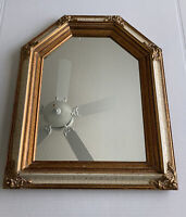 """Ornate Gold Gilt Wall Mirror Victorian Hanging Wood Frame 21x17"""" Vintage"""